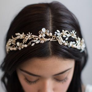 "Twigs & Honey ""Mermaid's Blushing"" Bridal Tiara"